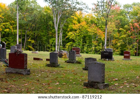 Old cemetery tombstones