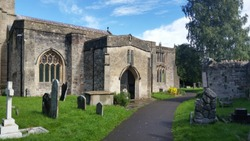 Old cemetry and parish church in England