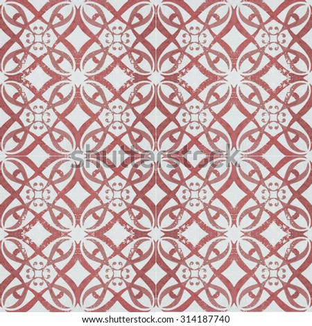 Old ceramic tiles patterns background in the park public #314187740