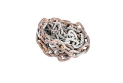 Old chain on white background