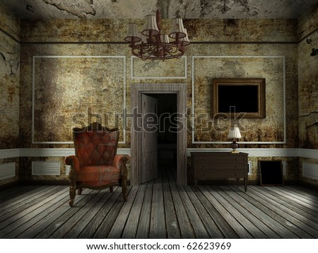 Casa Abandonada da Familia Tompson Stock-photo-old-chair-in-the-old-room-62623969
