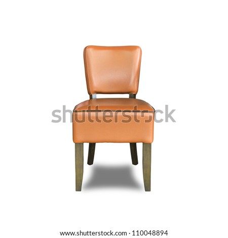 old chair isolated on a white background