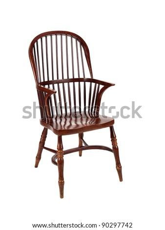 old chair isolated on white background