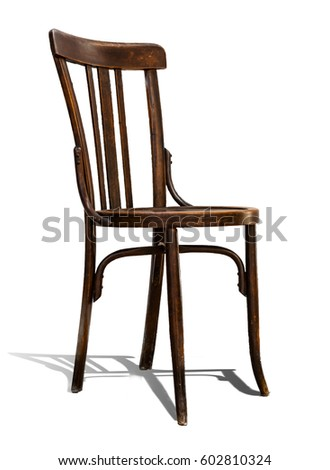old chair isolated on white...