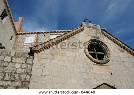 Old chapel in Dubrovnik, Croatia.