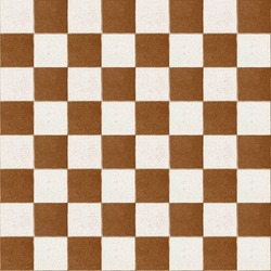 Old checker yellow chess  brown square tiles seamless tiled texture abstract background