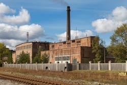 Old chemical factory in Kivioli, Estonia