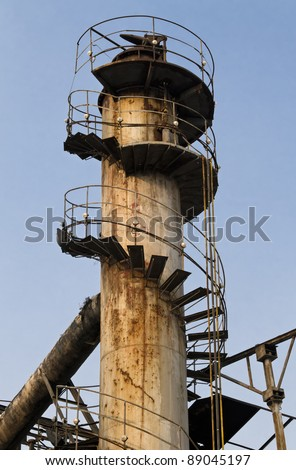 Old Chimney with Blue Sky