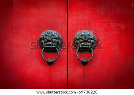 Old chinese door