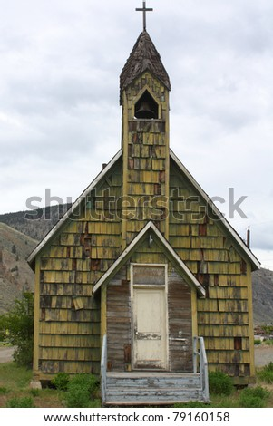 Old church building in Spences Bridge, British Columbia, Canada