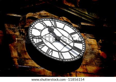 Old Church clock in Scotland