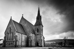 Old church in black and white, Kinvara, County Galway, Ireland