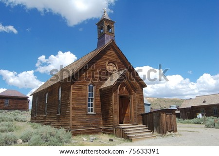 old church in bodie ghost town, california