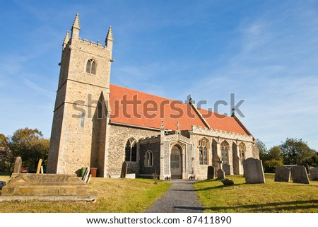 Old church in Fornham All Saints, a small village in Suffolk, England