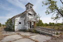Old Church in Ghost Town