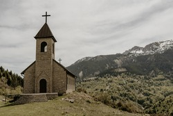 old church in Rugova national park, Kosovo
