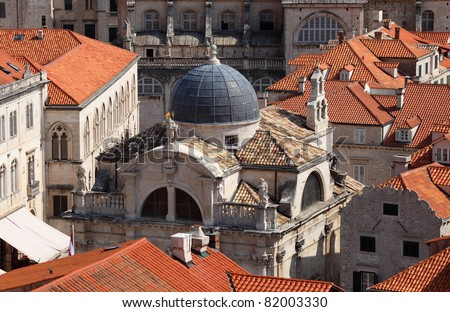 Old church in the Croatian town Dubrovnik