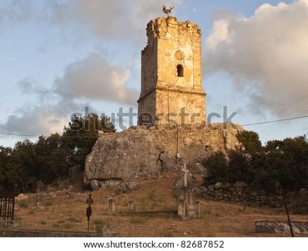 Old church of 'Panagias' at Kefalonia island in Greece