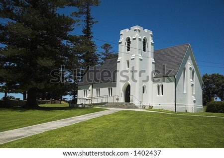 old church on a hill side