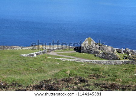 Old church on Dursey Island West Cork, Ireland