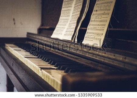 old church piano #1335909533