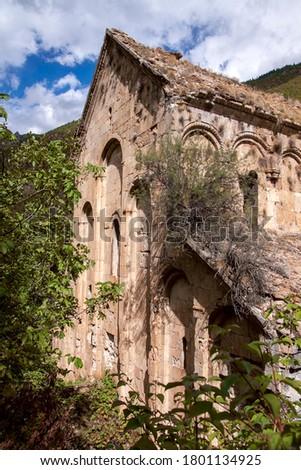 Old Church (Tekkale Kilisesi)  in yusufeli Artvin turkey Stok fotoğraf ©