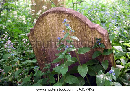 old churchyard grave markers