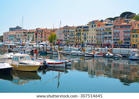 old city and harbor in cannes ...