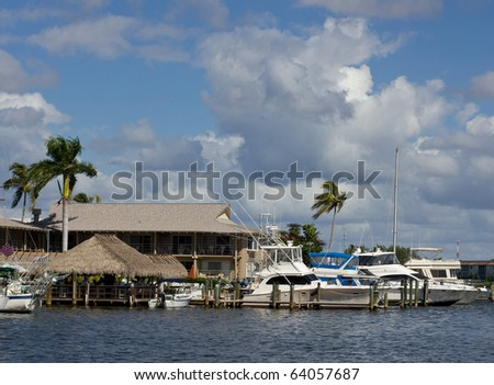 Old city dock in Naples, Florida