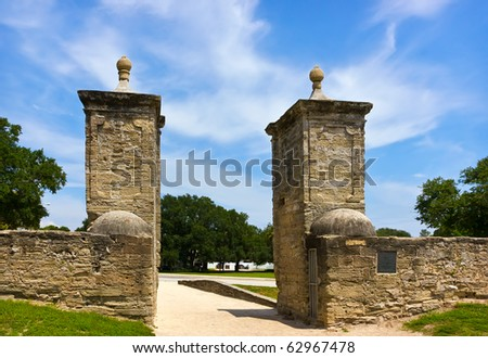 Old City Gates in st. Augustin, Florida, US