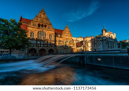 Old City Hall and Stadt Theater in Bielefeld, Germany