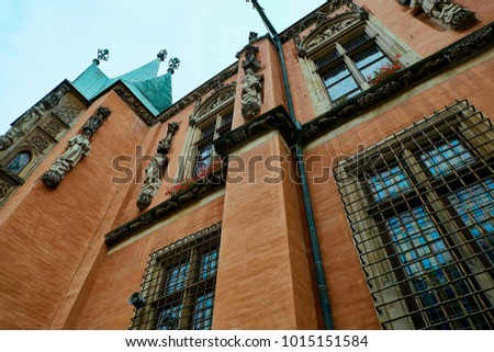 Old City Hall on Market Square in Wroclaw. Wroclaw, Lower Silesian Poland. #1015151584