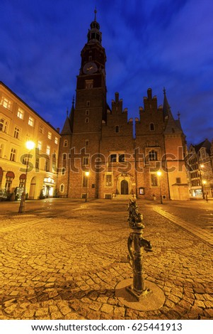 Old City Hall on Market Square in Wroclaw. Wroclaw, Lower Silesian, Poland. #625441913