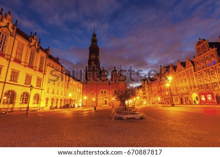 Old City Hall on Market Square in Wroclaw. Wroclaw, Lower Silesian, Poland. #670887817
