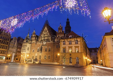 Old City Hall on Market Square in Wroclaw. Wroclaw, Lower Silesian, Poland. #674909917
