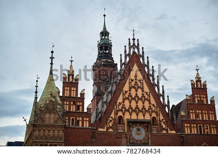 Old City Hall on Market Square in Wroclaw. Wroclaw, Lower Silesian Poland. #782768434