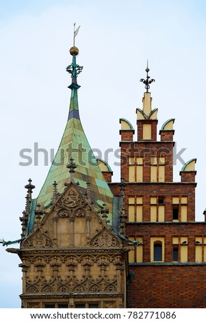 Old City Hall on Market Square in Wroclaw. Wroclaw, Lower Silesian Poland. #782771086