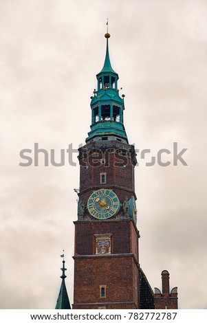 Old City Hall on Market Square in Wroclaw. Wroclaw, Lower Silesian Poland. #782772787