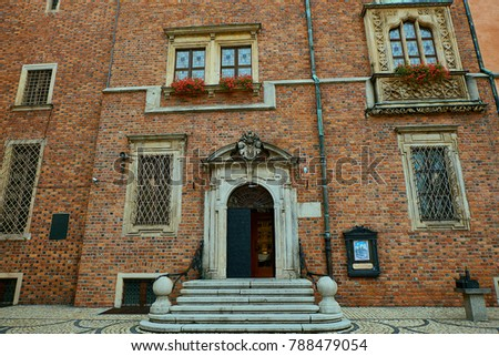 Old City Hall on Market Square in Wroclaw. Wroclaw, Lower Silesian Poland. #788479054