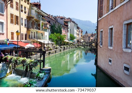 old city of Annecy with the canal