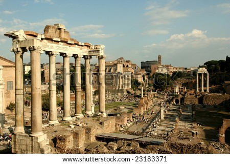 Old city of Rome, Italy