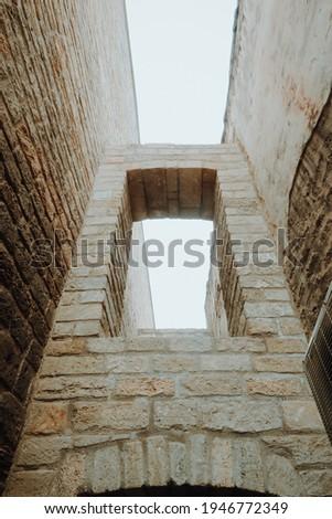 Old city walls in Baku, Azerbaijan.