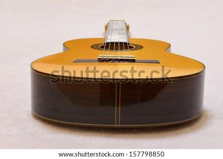 Old classic spanish concert guitar