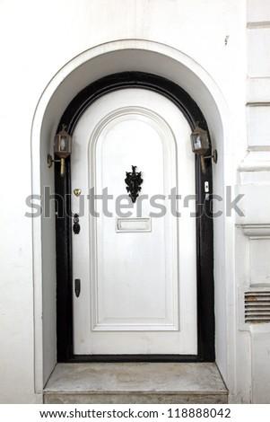 Old classic victorian door in London