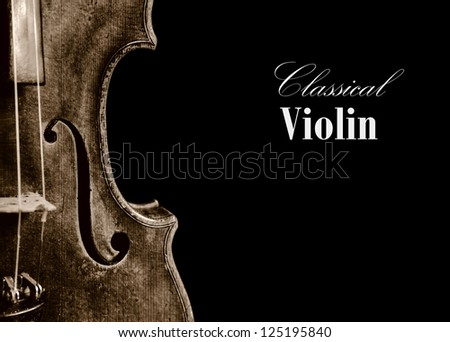 Old classical isolated violin romantic background