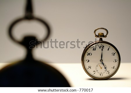 Old clock at 5 o\'clock