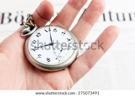 Old clock face or Do not waste your time, Time management, Time is money