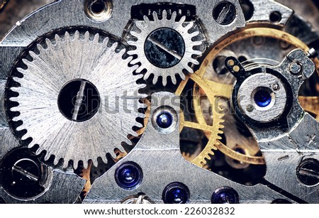 old clock mechanism. element of ...