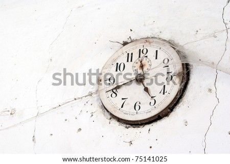 old clock with cobweb