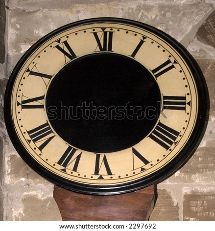 stock photo : old clock with no hands